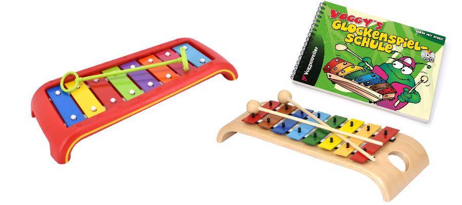 Glockenspiel mit farbigen Tasten