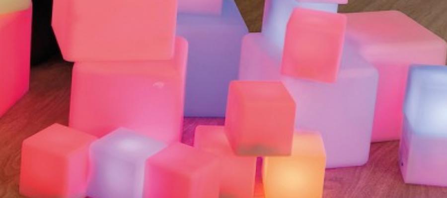 Leuchtbausteine mit wechselnden Farben